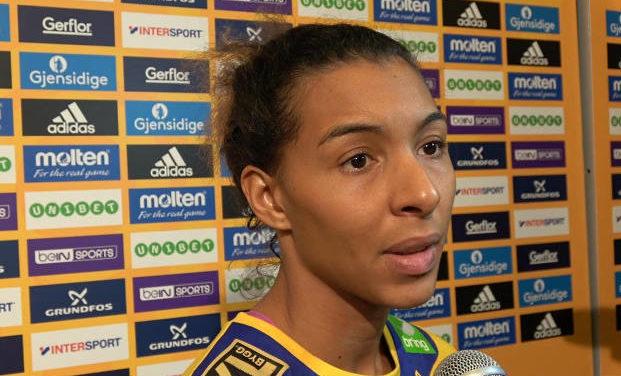 Jamina Roberts - Handball WM 2017 Deutschland - Halbfinale Frankreich vs. Schweden - Foto: Jansen Media