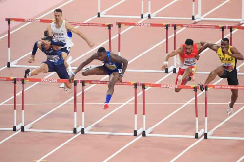 Leichtathletik WM 2019 - Grant Holloway - Foto: © Getty Images for IAAF