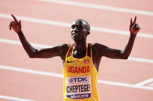 Leichtathletik WM 2019 - Joshua Cheptegei - Foto: © Getty Images for IAAF